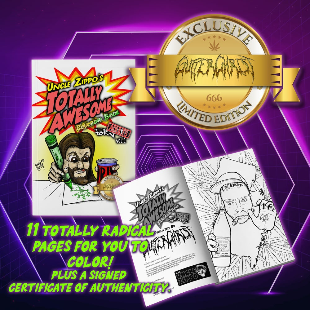 Image of UNCLE ZIPPOS ADULT COLORING BOOK GUTTER CHRIST EXCLUSIVE EDITION LIMITED TO 34 BOOKS