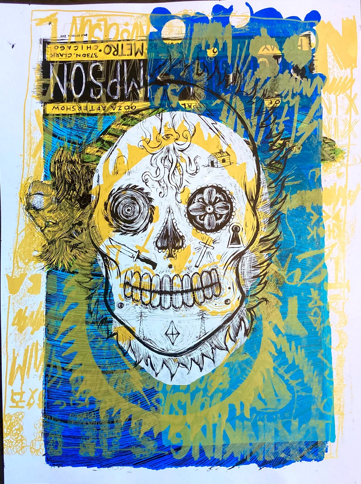 Day Of The Dead Test Print #6