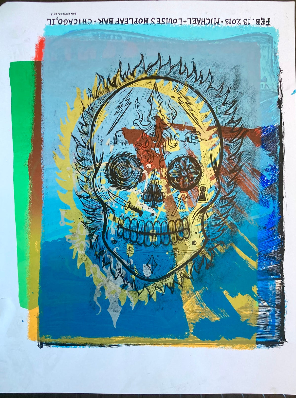 Day Of The Dead Test Print #12