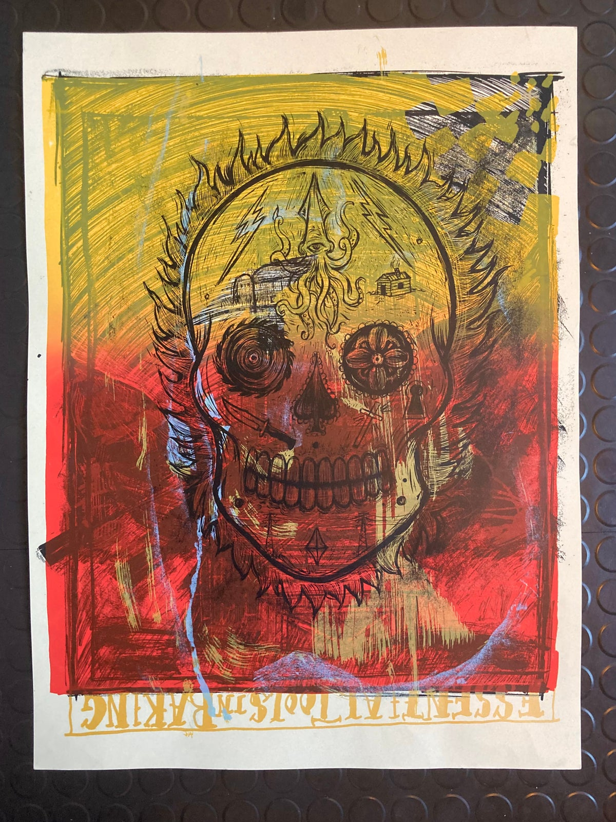 Day of The Dead Test Print #16