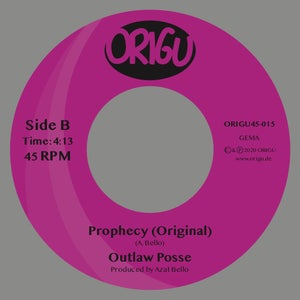 """Image of OUT NOW 7"""" OUTLAW POSSE - PROPHECY (REMIX) B/W PROPHECY (ORIGINAL)"""