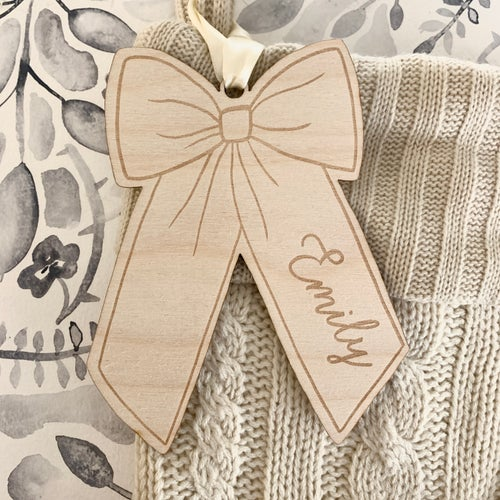 Image of Custom Engraved Bow Nametag