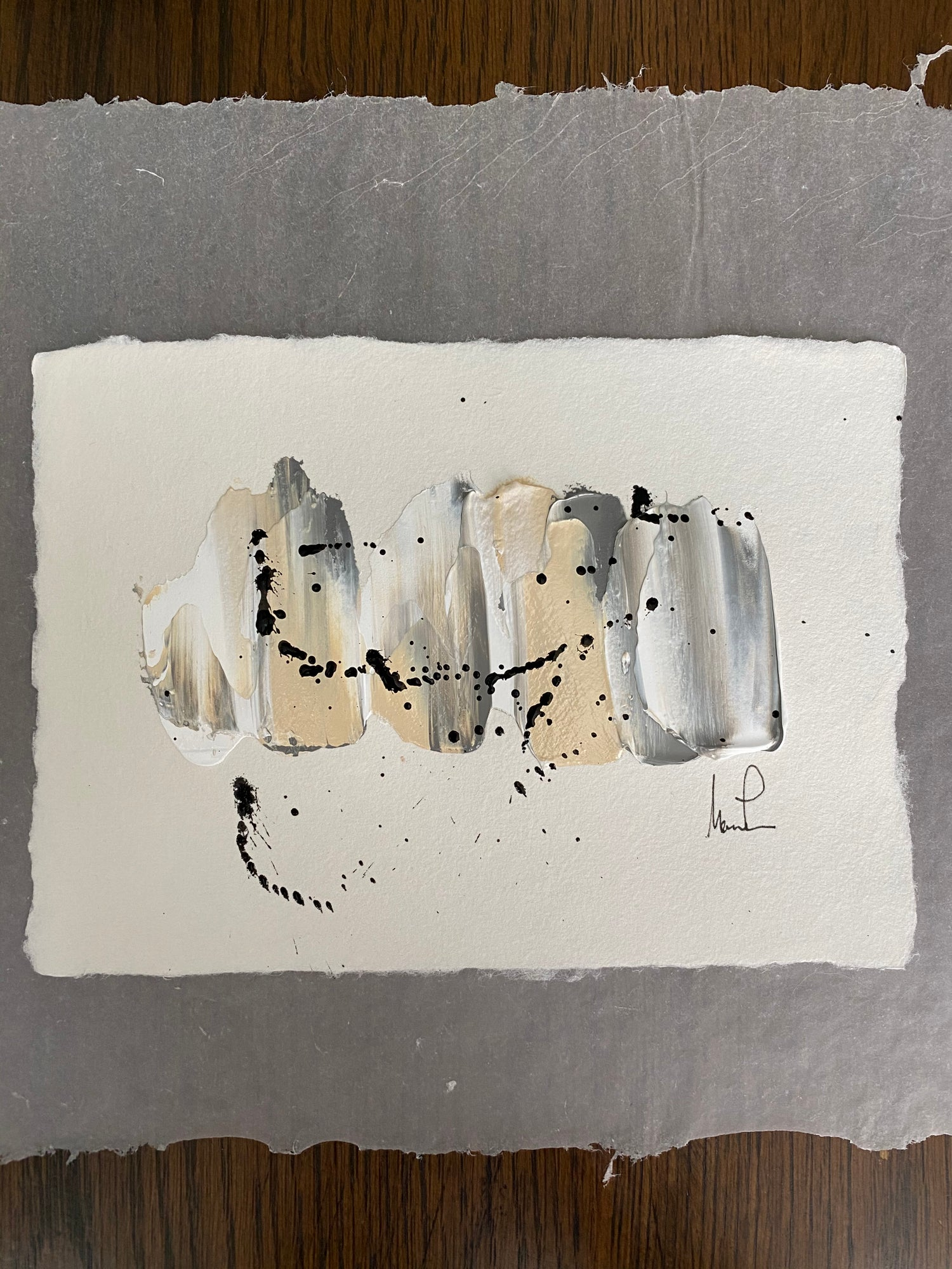 Image of ML Art Collection - Handmade Paper on Vellum Paper (1a)