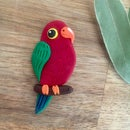 Image 1 of King Parrot Brooch