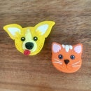Image 1 of Dog and Cat Brooches