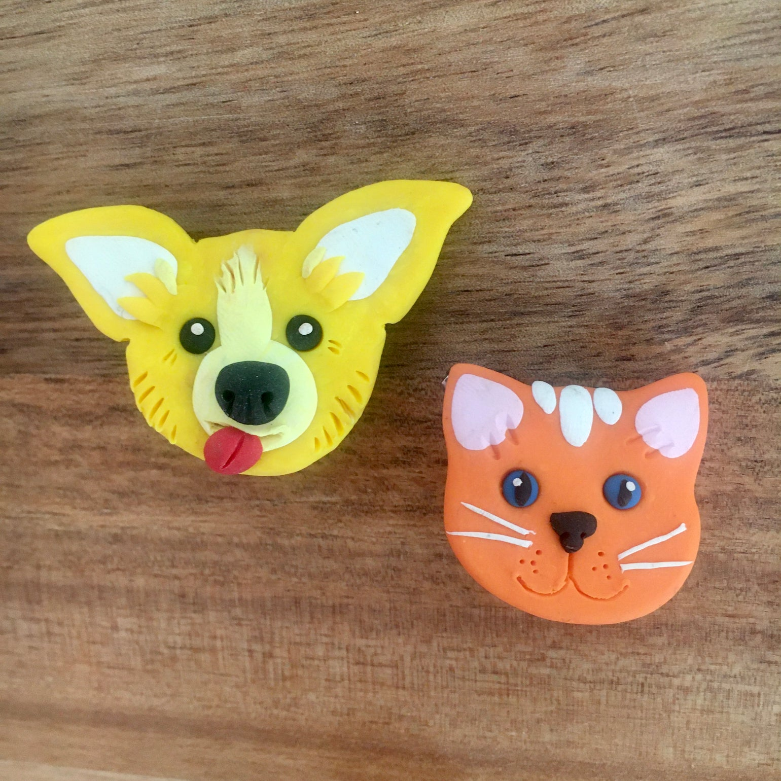 Image of Dog and Cat Brooches