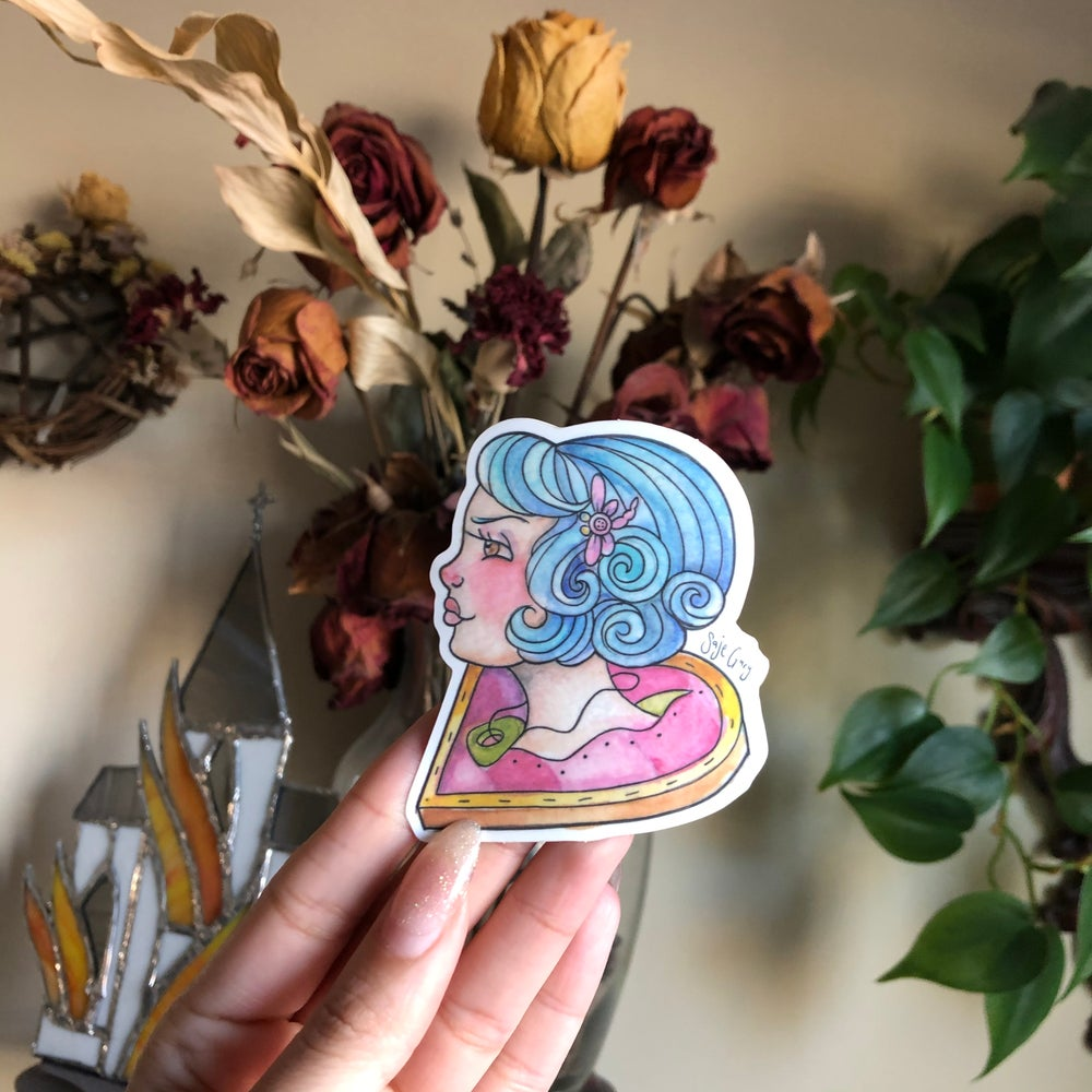 Image of Twitchy witchy girl sticker