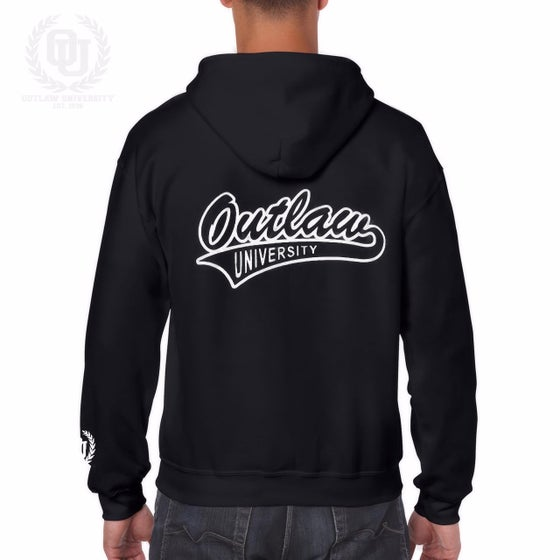 Image of Outlaw Unisex Zip Up Hoodie - Comes in Black,Grey, Dark Grey, Navy Blue, Red