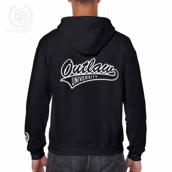 Image of Outlaw Unisex Zip Up Hoodie - Comes in Black,Grey, Dark Grey, Navy Blue, Red