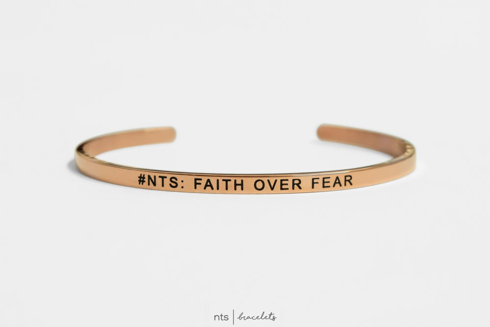 Image of #NTS: FAITH OVER FEAR (Rose Gold)