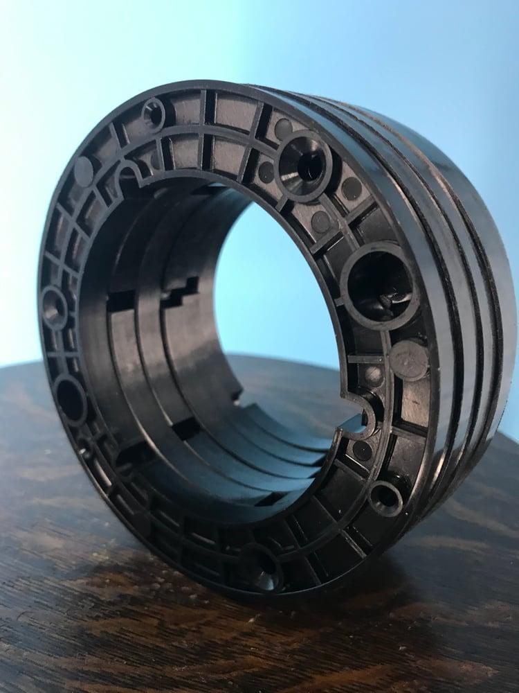 """Image of Burlington Recording 1/4"""" NAB Hubs for 1/4"""" Metal Reels Black (6 Pack)"""