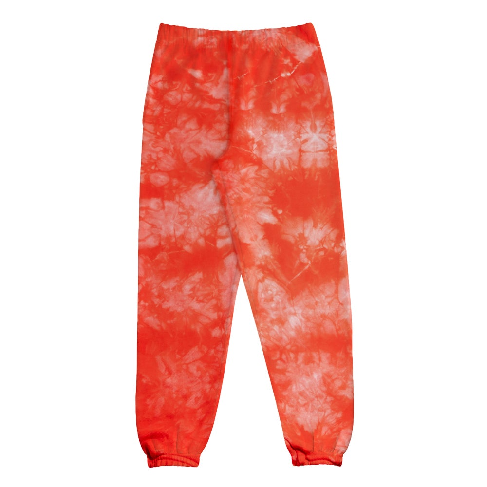Image of Small Face Globe Sweatpants- Red
