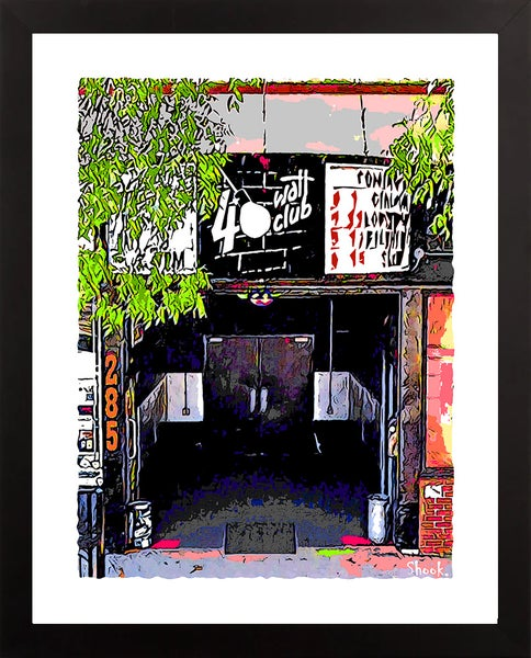 "Image of 40 Watt Club Athens GA Giclée Art Print - 11"" x 14"""