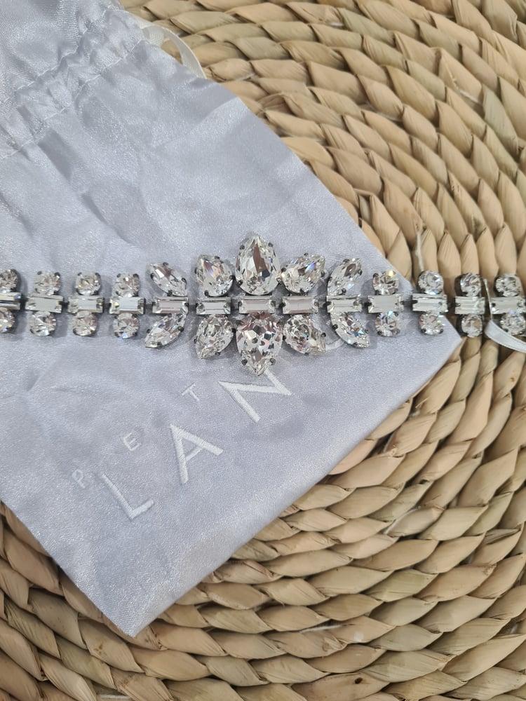 Image of Peter Lang Swarovski Bridal Bracelet.