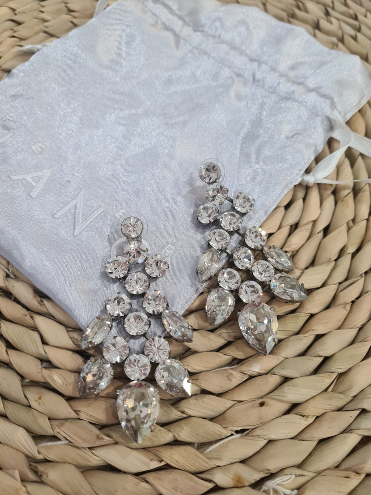 Image of LANG Jewellery. Swarovski Bridal earrings.
