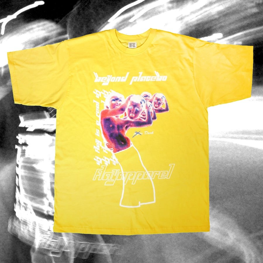Image of 'Beyond Placebo' Official FLAY Album Tee Yellow