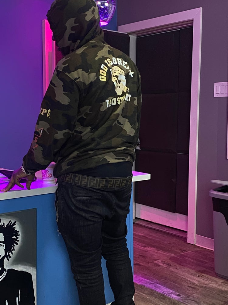 Image of GIGPS ALMIGHTY MILITANT CAMO HOODIE