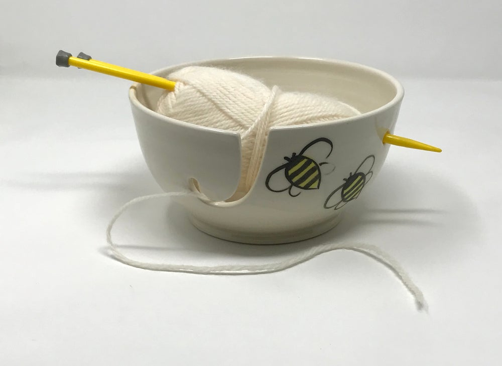 Image of BEE Decorated Yarn Bowl, Medium