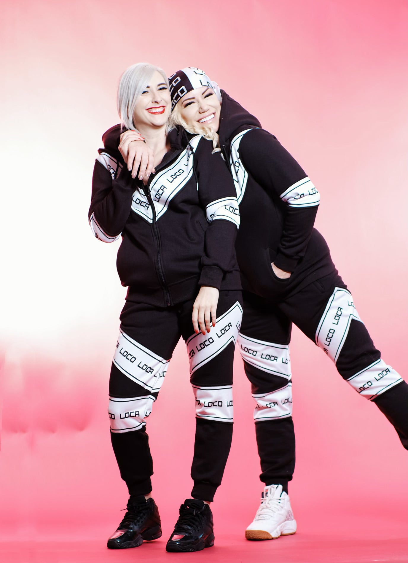 Image of Women's DIARIO Black and White Tracksuit