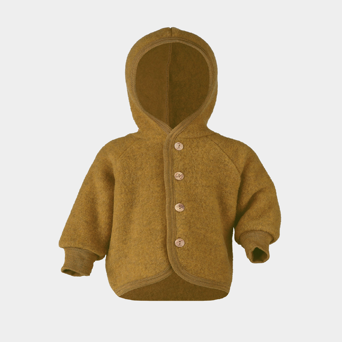 Image of Engel Hooded Jacket Saffron