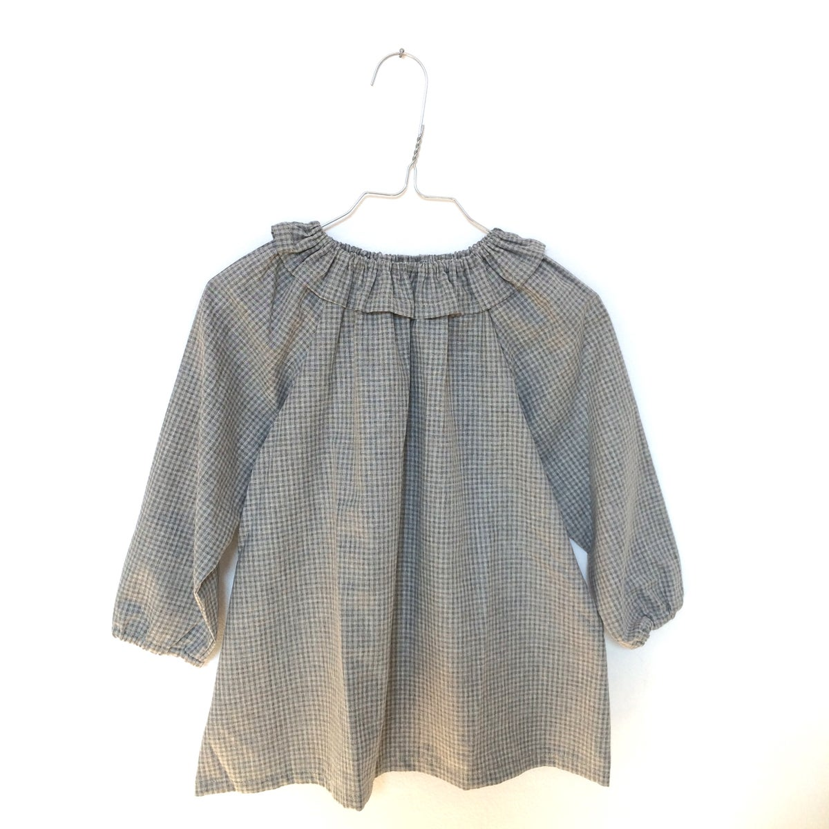 Mavie Blouse- grey check