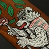 URS - HAND PAINTED WOODEN BOARD *FREE UK POSTAGE*