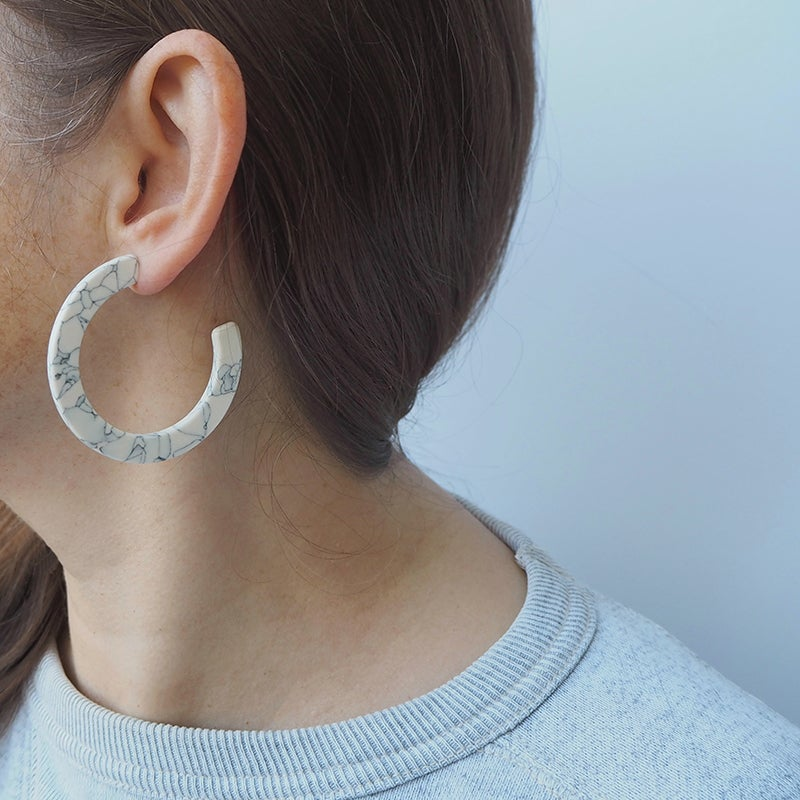 Image of *NEW* Marmaro Hoop Earrings