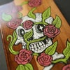 SNEAKY SKULL - HAND PAINTED WOODEN BOARD *FREE UK POSTAGE*