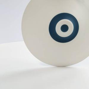 Image of Small Sea-blue & White Leaf Bowl