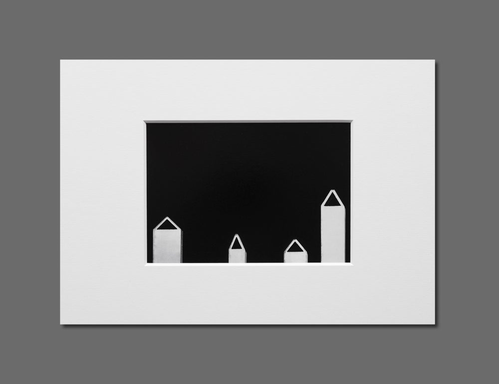 Image of CHIMNEYS - 11X16CM FINE ART PRINT IN A4 PASSE-PARTOUT