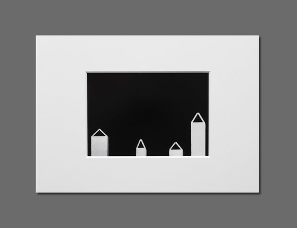 Image of CHIMNEYS - 11X16CM FINE ART PRINT IN A4 PASSE-PARTOUT