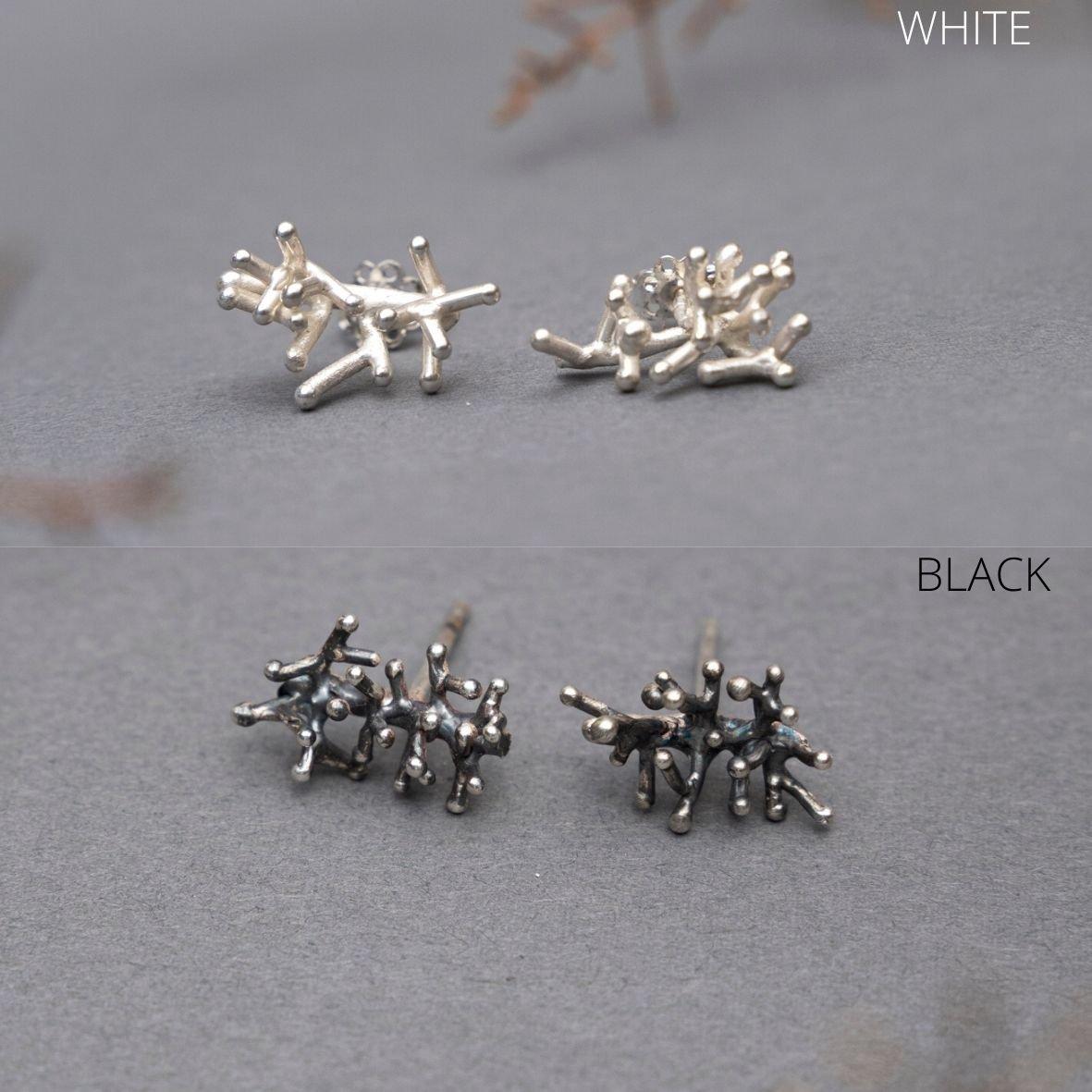 CORAL earrings black or white