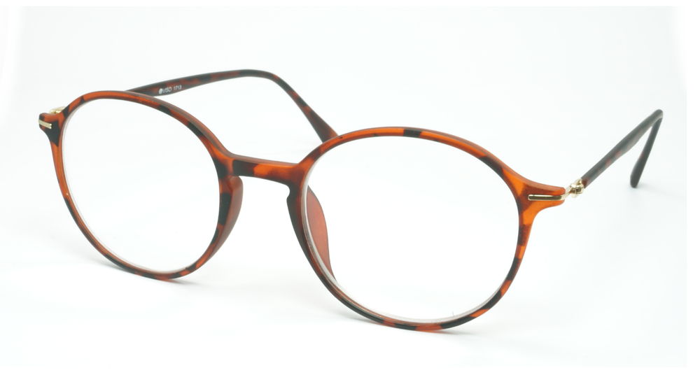 Image of Visa Reading Glasses (#111713) Mat Tortoise Brown