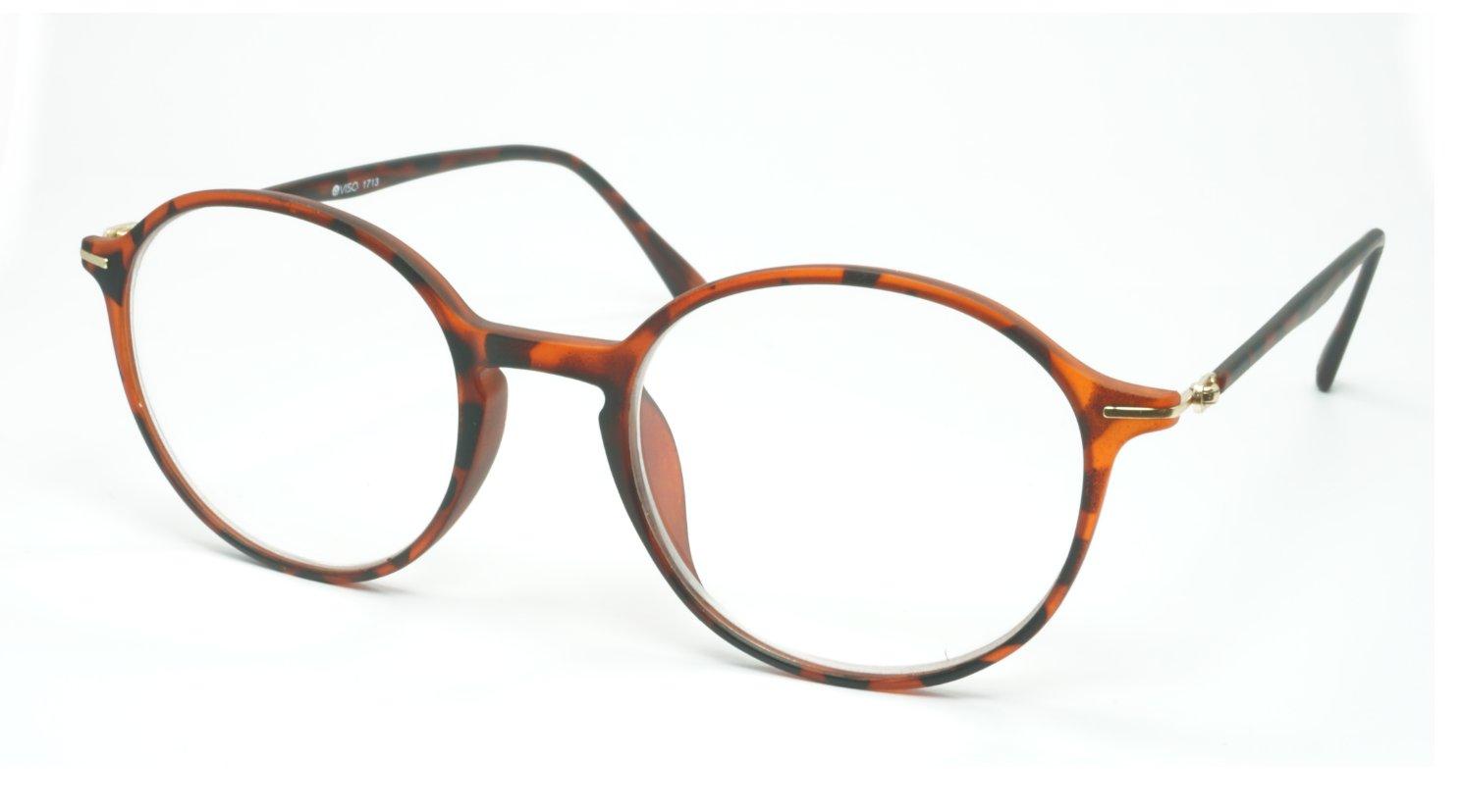 Image of Visa Reading Glasses (#111713) Mat Tortoise Brown