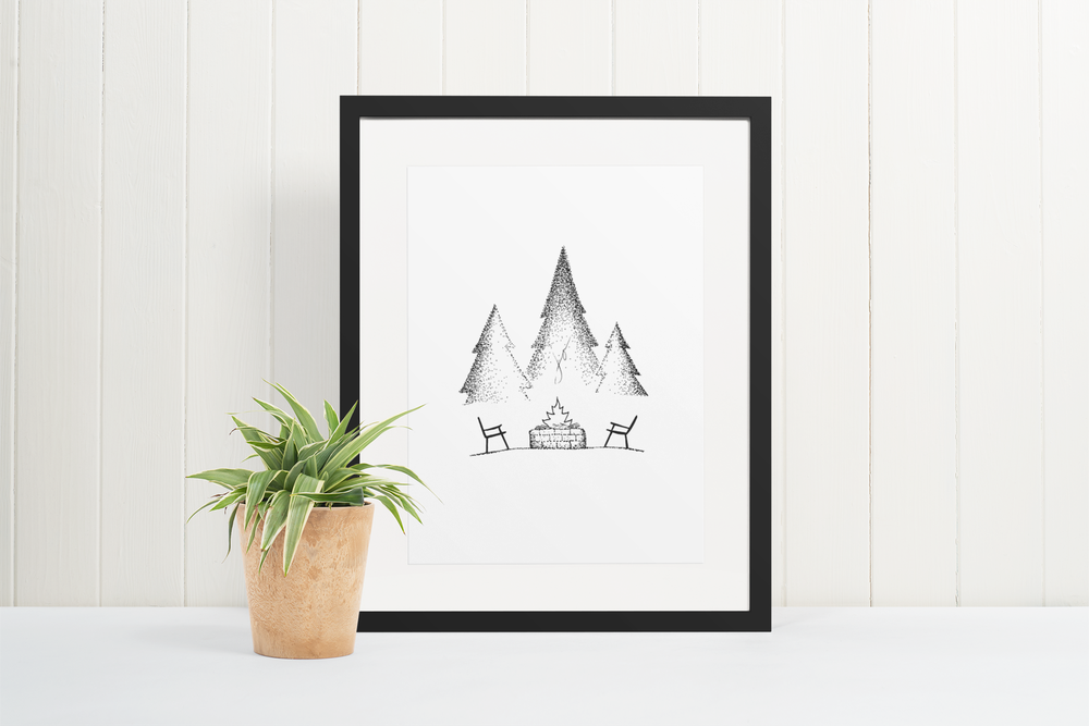 Image of Fireside Chat Print