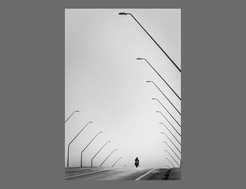 Image of  LONG BEACH - 11X16CM FINE ART PRINT IN A4 PASSE-PARTOUT