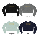 Curse of Castle Rock | Crop Sweatshirt
