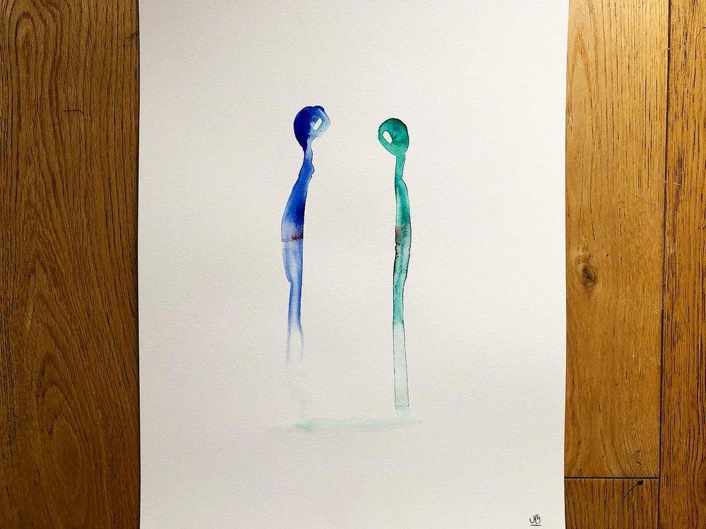 Image of «Together» 2/3, watercolor - A3.
