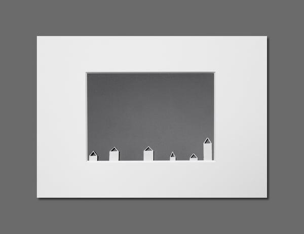 Image of SIX CHIMNEYS - 11X16CM FINE ART PRINT IN A4 PASSE-PARTOUT