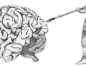 """Sérigraphie / """"Laver le cerveau"""""""