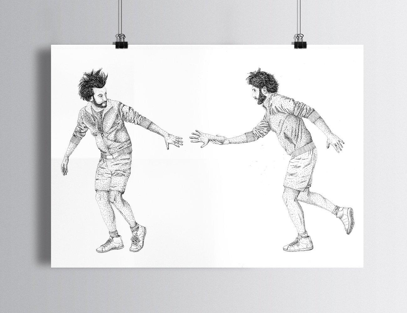 "Sérigraphie / ""Passer la main"""