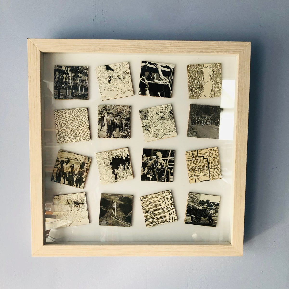 Image of MAP + PHOTO ART COLLAGE / BALTIC BIRCH / SHERRY TRUITT / DIASPORA: DISRUPTION IS EVERYWHERE