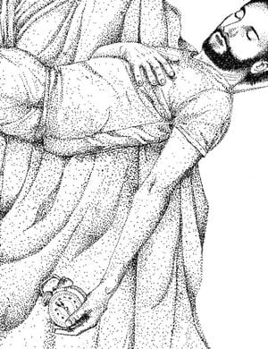"""Sérigraphie / """"Dans les bras de Morphée"""""""