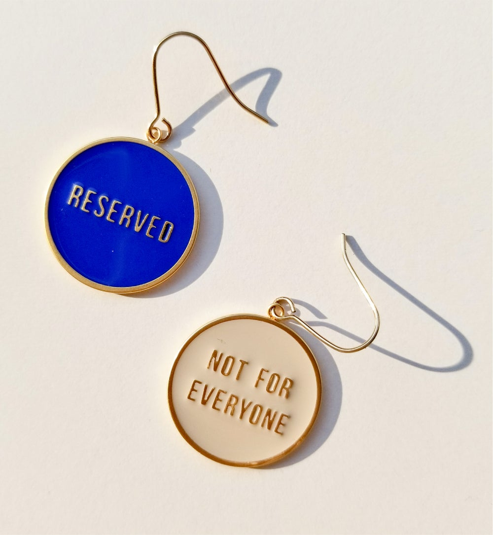 Not for Everyone + Reserved - reversible Earrings - Yellow