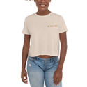 We Were Here   Embroidered Crop Tee
