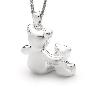 Image of Bears of Hope - Large Pendant in Sterling Silver