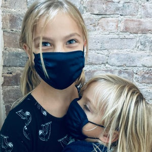 Image of 100% Silk Face Mask (pair)<br> <i>Adult & Child Size</i>