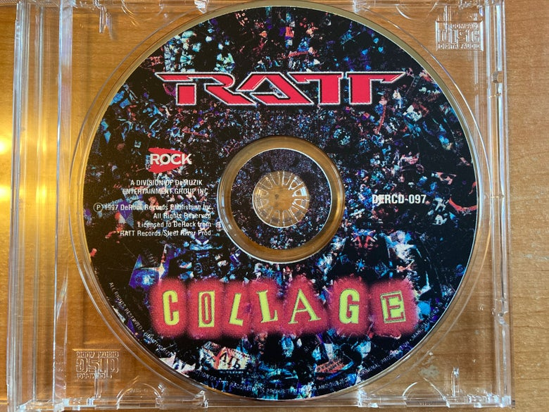 Image of Ratt Collage CD/Cass promo Stephen Pearcy Warren DeMartini Crosby Blotz Croucier