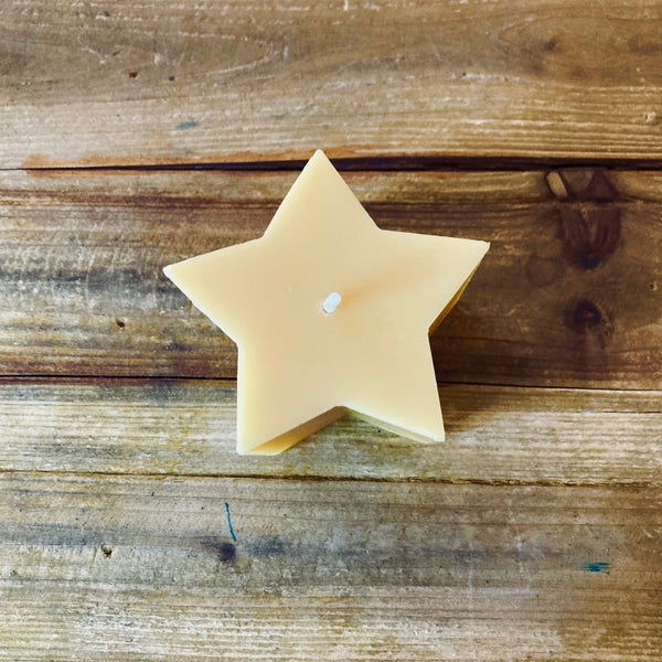 Image of Five Pointed Star Beeswax Candle