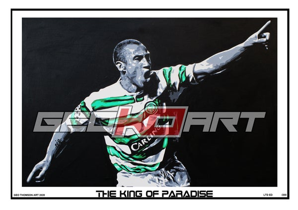 Image of HENRIK LARSSON CELTIC KING OF PARADISE